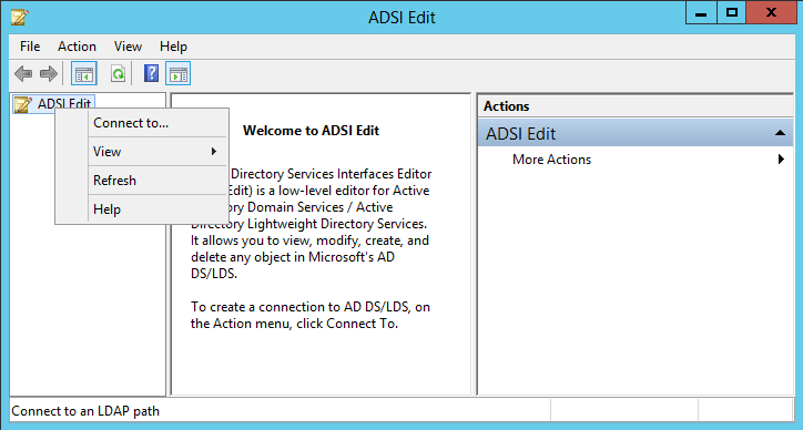 how to open active directory from run