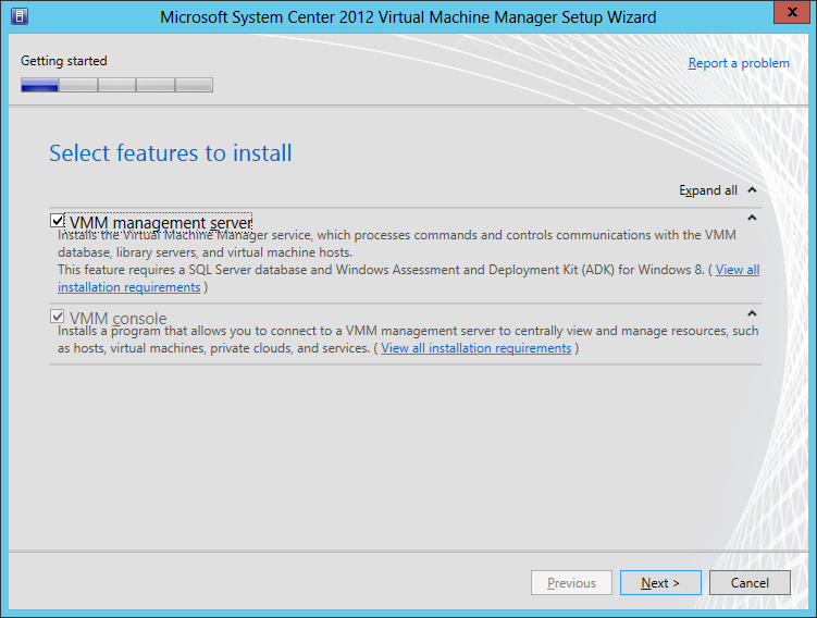 Installing System Center 2012 – Virtual Machine Manager with