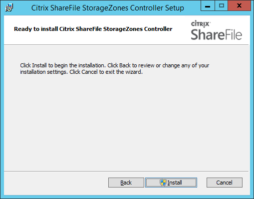 Installing and Configuring Citrix ShareFile StorageZones Controller