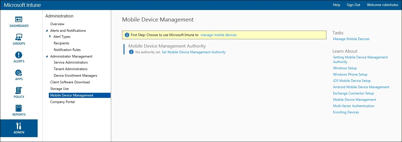 How to setup Microsoft Intune 014