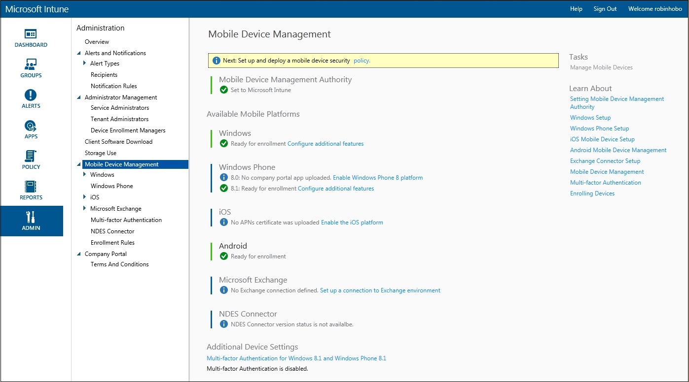 How to setup Microsoft Intune 016
