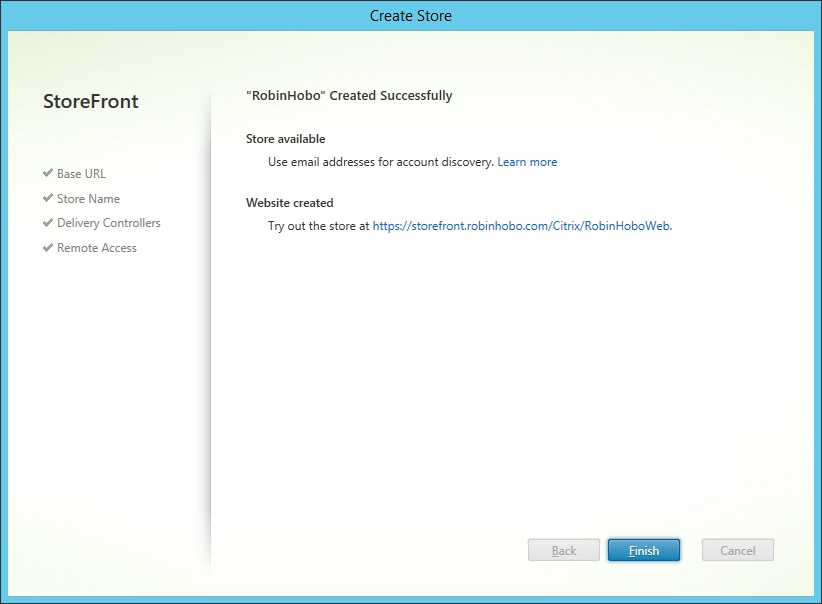 Installing and Configuring Citrix Storefront 3.0 020