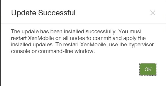 Upgrading Xenmobile 10 to 10.1 05