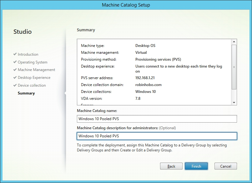 Installing and Configuring Citrix XenDesktop 7.8 - 034