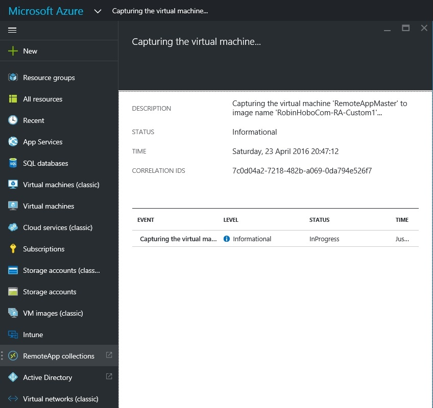 How to setup Microsoft Azure RemoteApp with a custom image 28