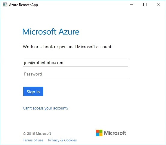How to setup Microsoft Azure RemoteApp with a custom image 47