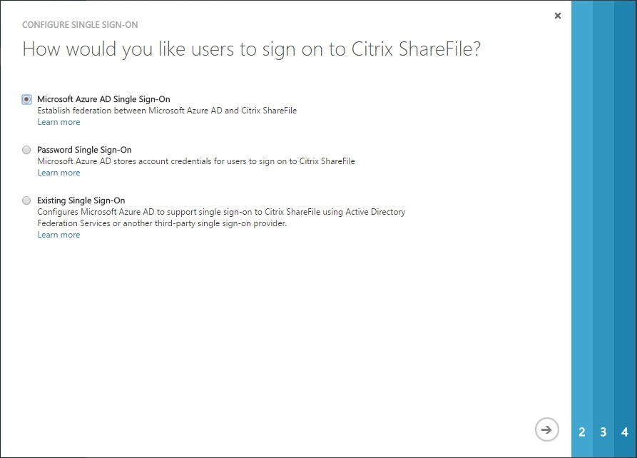 Configuring Citrix ShareFile SSON with Azure AD - 016