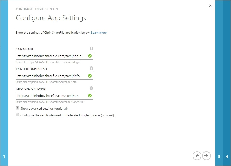 Configuring Citrix ShareFile SSON with Azure AD - 017