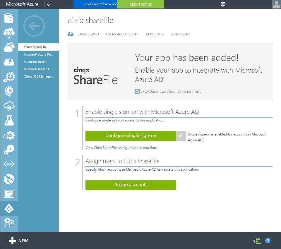 Configuring Citrix ShareFile SSON with Azure AD - 024