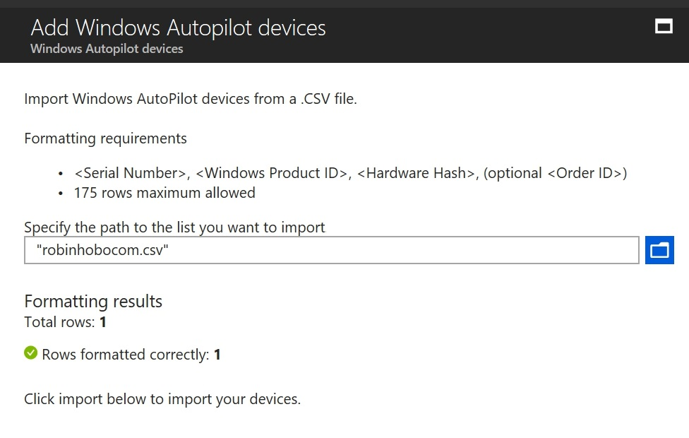 How to setup Windows AutoPilot and add existing devices the quickest way