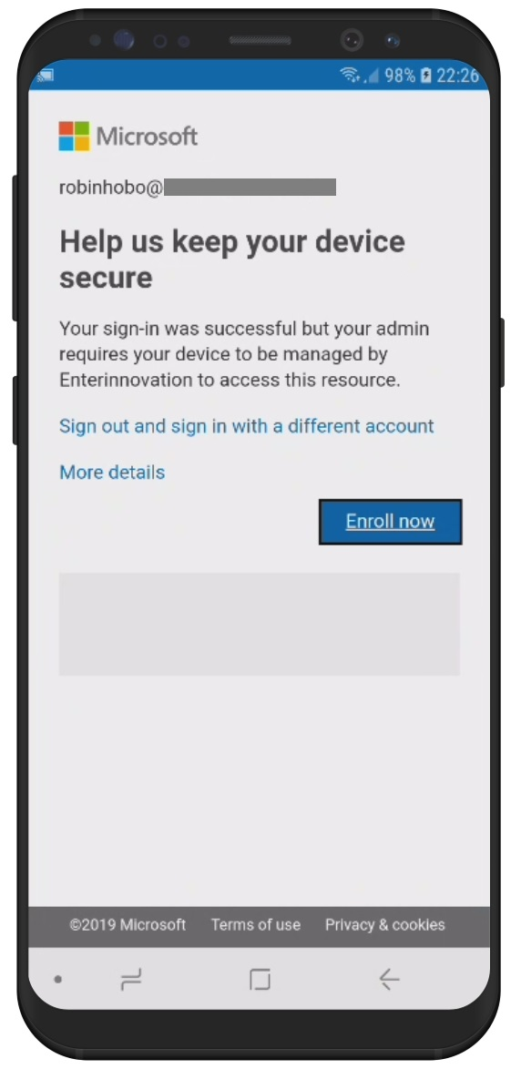 how to setup enterprise email on android
