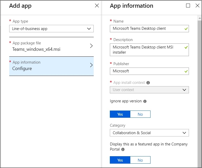 How to deploy the Microsoft Teams Desktop client with