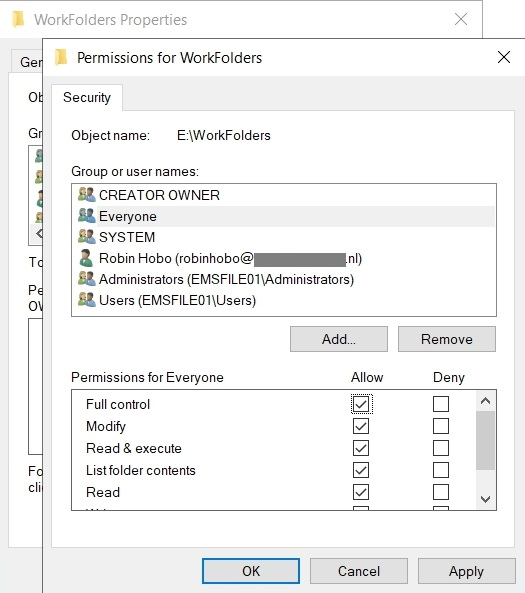 How to deploy Work Folders with Windows Server 2019