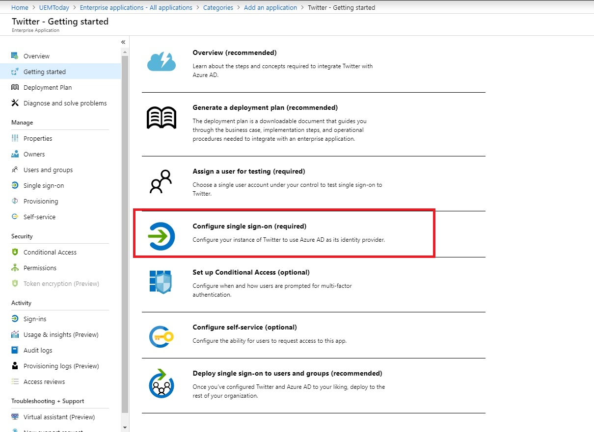 How to configure Shared Credentials for web applications in