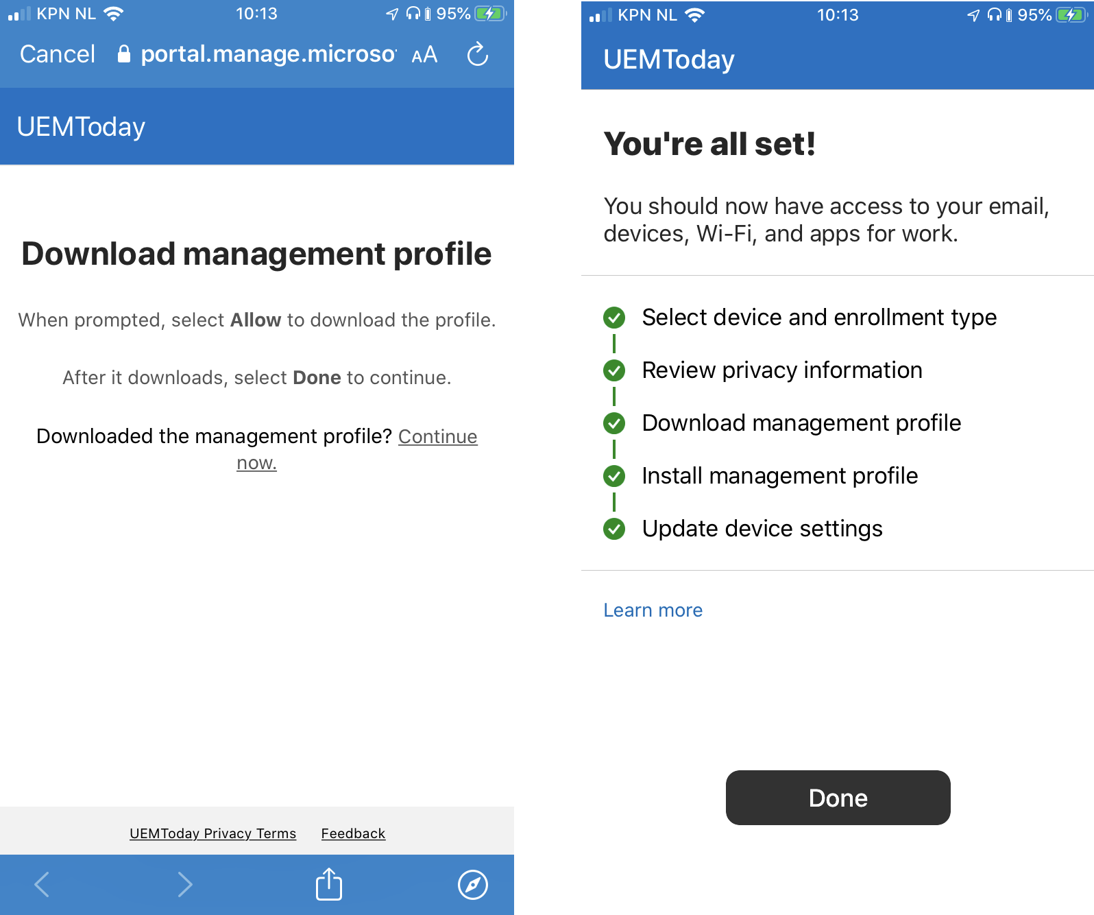 How To Enroll An Apple Device With Ios 13 User Enrollment Mode In Microsoft Intune
